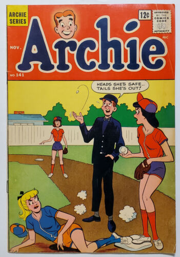 Archie #141 (1963, Archie Comics) VG+ Betty & Veronica Baseball Cover
