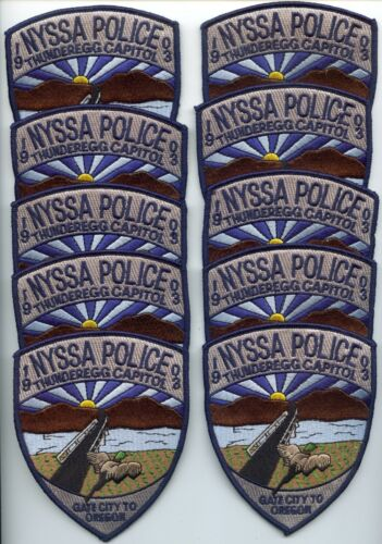 NYSSA OREGON Patch Lot Trade Stock 10 Police Patches POLICE PATCH