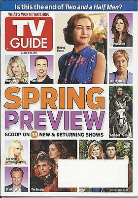 Tv Guide Magazine Spring Preview Two And A Half Men Bethenny Frankel Snl
