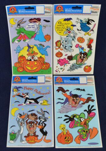 Looney Tunes Halloween window clings Bugs Bunny & Friend Daffy Duck Lot New 1998