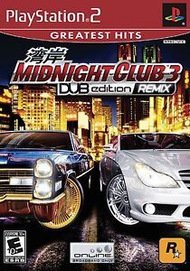 Playstation 2 Game -  MIDNIGHT CLUB 3 - DUB EDITION REMIX (Greatest Hits ) new