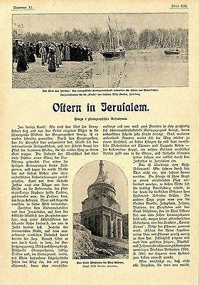 Ostern Jerusalem- Reise Ufer des Jordan Grab Absaloms Thal Kidron Bethanien 1901