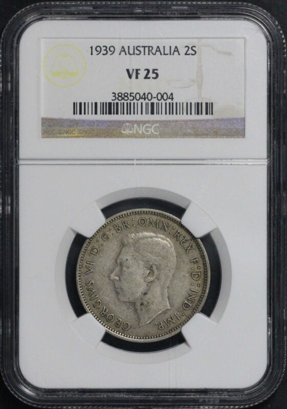 1939 Australia Silver Florin (2 Shillings) NGC VF-25 -134155