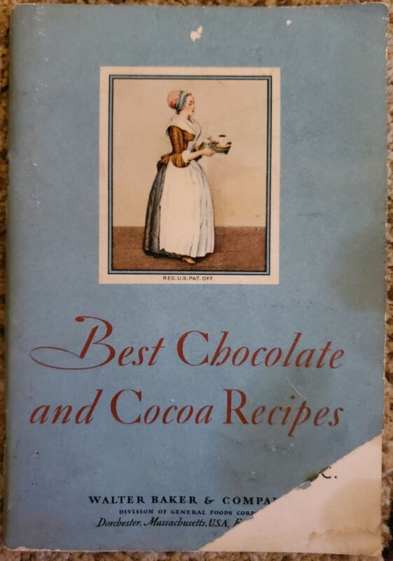 1931 BEST CHOCOLATE AND COCOA RECIPES WALTER BAKER & COMPANY BOOKLET