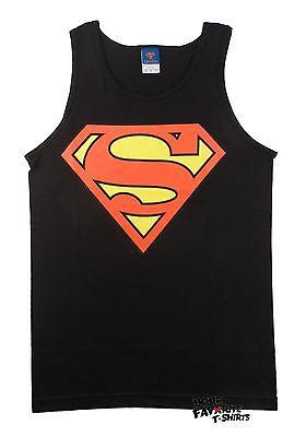 Classic Adult Comics (Superman Classic Logo DC Comics Adult Black Tank)