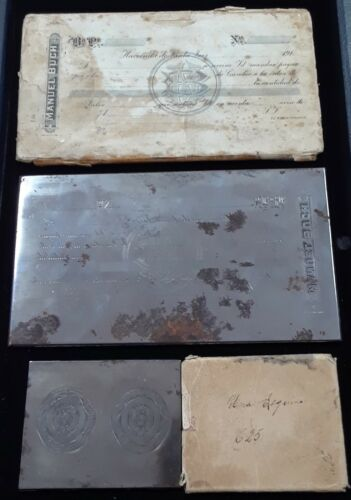 Manuel Buch Revolutionary Mexico City Hotel Merchant Tax+Title Printing Plate