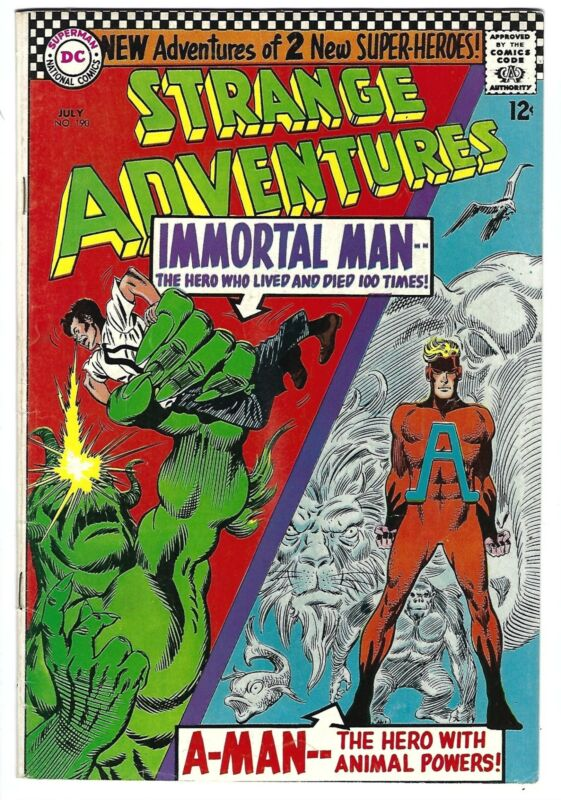 1966 DC Strange Adventures 190 1st Animal Man in Costume F-