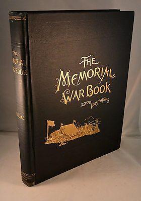 THE MEMORIAL WAR BOOK Civil War 2000 Engraving 1894 1st Edition