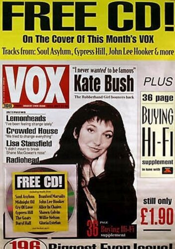 "40x60"" HUGE SUBWAY POSTER~Kate Bush 1993 Vox Magazine Cover Original NOS Rare~"