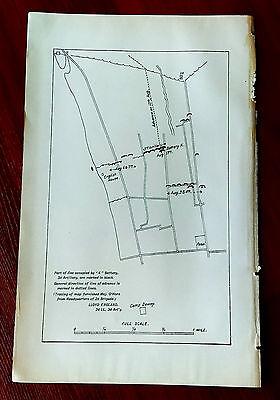 1898 Sketch Map K Battery 3rd Artillery Camp Dewey Spanish American War