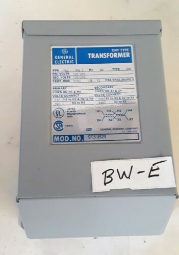 General Electric 9T51B29 Transformer Dry Type QB .750 KVA