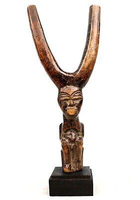 Art African Afrikanishe Kunst - Antique Lance Stone Lobi Suir Base - 21,5 CMS
