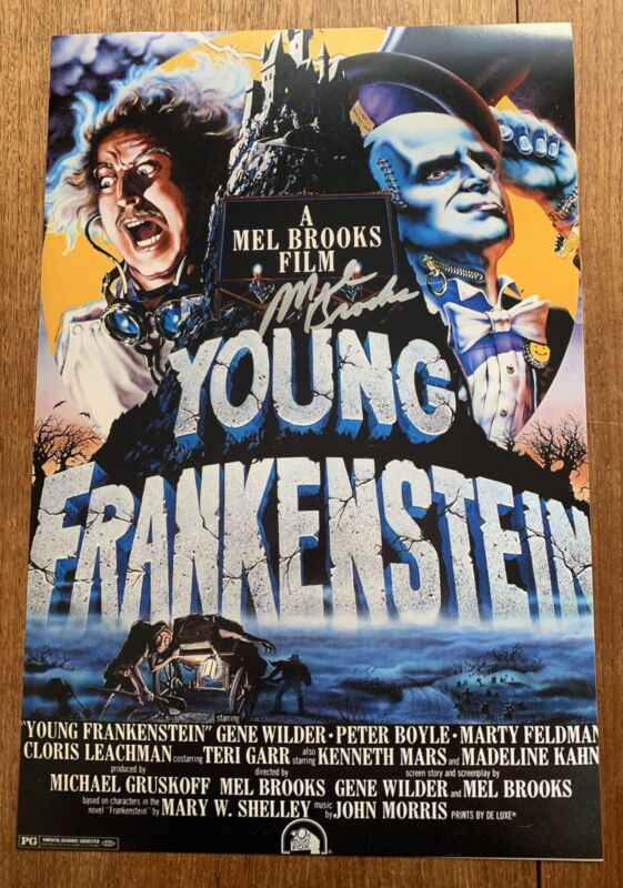 Mel Brooks Signed 12x18 Photo Poster Young Frankenstein Director S