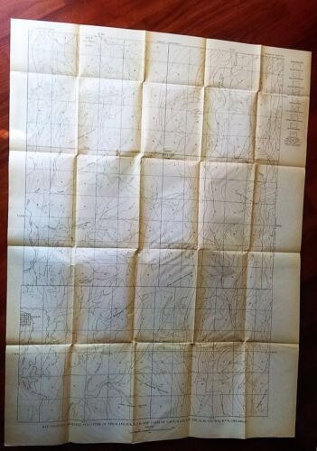 1918 Oklahoma USGS Oil & Gas Survey Map Anticlines and Domes
