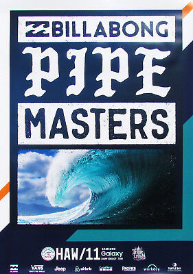 b22c0178a8 Official 2016 Pipe Masters Hawaii Surfing Contest Event New Andy Irons  Poster