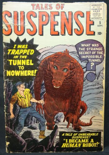 Dragonmiser Marvel Tales of Suspense #5 Tunnel to Nowhere 1959
