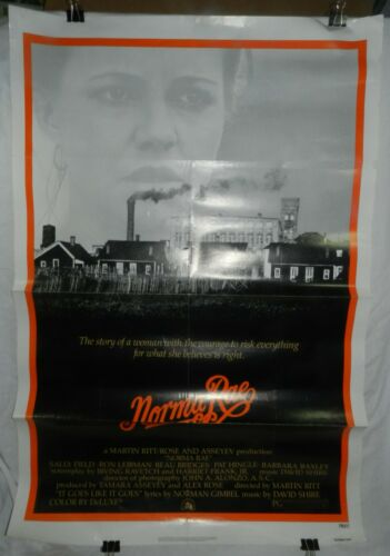 Vintage 1 Sheet Movie Poster for Norma Rae, 1979, Sally Field, Ron Leibman