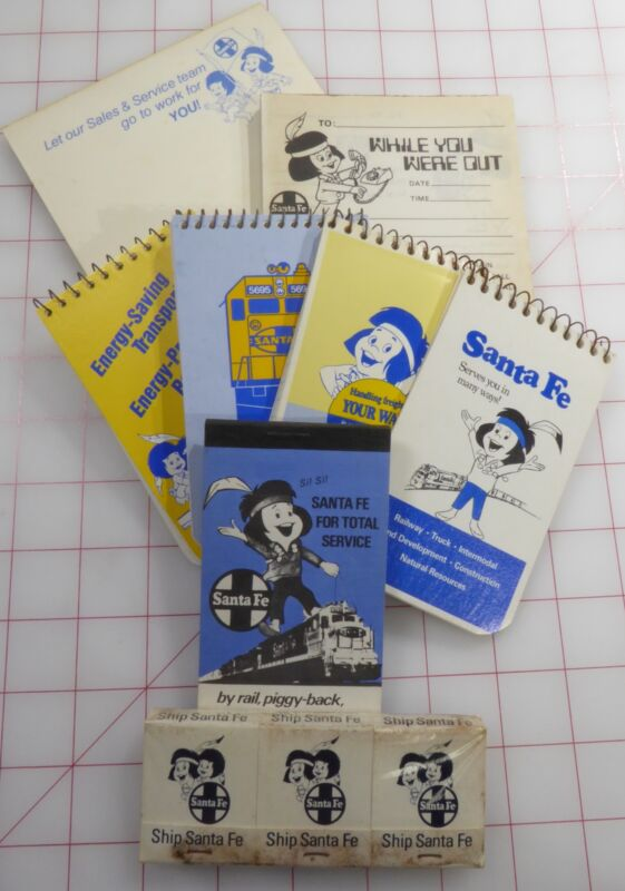 Santa Fe Train Chico Notebooks/Pads & Matches - 8 Items