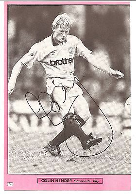 Colin Hendry, Manchester City Man City signed autographed football book picture.