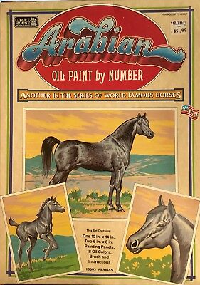 Craft House ARABIAN Oil Paint By Number 18603 Arabian 3 Panels never opened