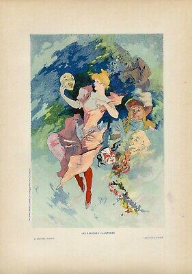 Jules Cheret LA COMEDIE Vintage French Lithograph, Affiches Illustrees, 1896