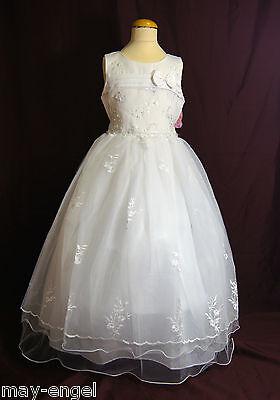 Kommunionkleid Kommunionskleid Taufkleid Festkleid  Reifrock Blumenmädchenkleid