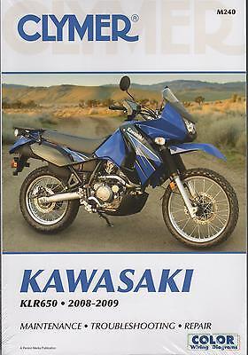 2008-2009 Clymer Kawasaki Motorcycle Klr650 Service Manual M240