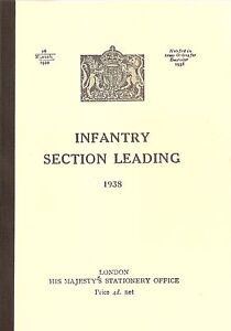 INFANTRY SECTION LEADING 1938 - WW2 BRITISH MANUAL REPRINTED BOOKLET