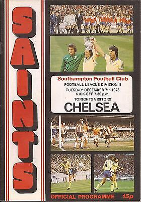 Southampton v Chelsea - Div 2 - 7/12/1976 - Football Programme