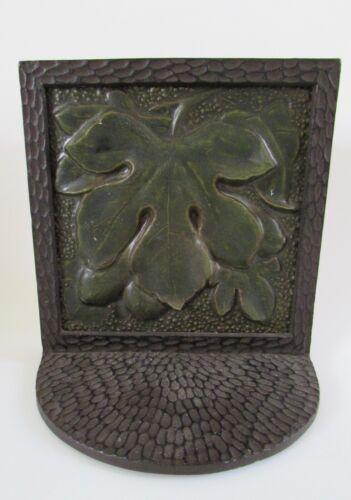 VTG Arts & Crafts Oak Leaf Hammered Book Ends