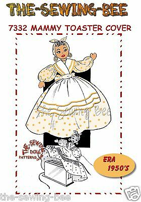 Toaster Cover Patterns - Mammy Doll TOASTER Cover Pattern # 7332 Black American Vintage 1940's