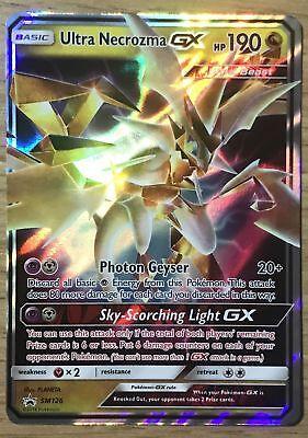 Pokemon Card: ULTRA NECROZMA GX SM126 Dragon Majesty Box Ultra Rare Promo NM