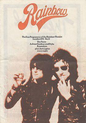 (50051X) The Faces - Rainbow Theatre Programme 1972 on Lookza
