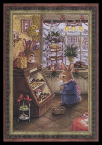 1071GC Susan Wheeler - Rabbit - Christmas Greeting Card