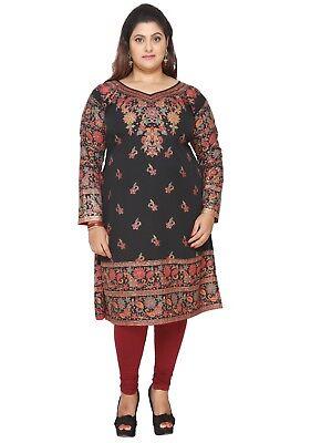 Uk Stock   Plus Size    Women Indian Kurti Tunic Kurta Top Dress Eplus109a