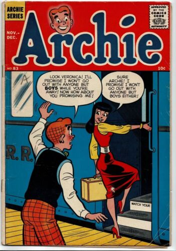 Archie #83 1957 Classic Suggestive Cover!