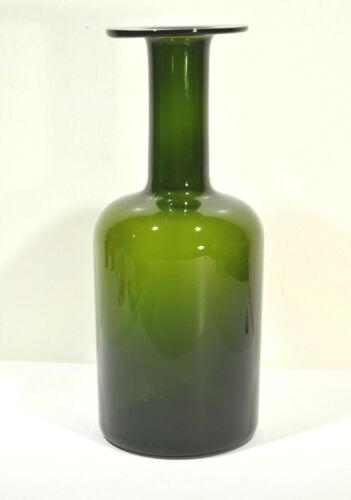 """Holmegaard Green Glass Early Gulvase 12"""" Otto Brauer"""