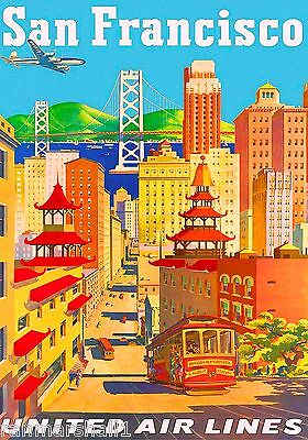 San Francisco Chinatown United States Amerca Travel Advertisement Art Poster 8
