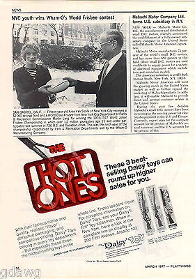 1977 ADVERT Daisy Toy Air Rifle BB Gun Trail Rider Boss Spittin Image Carbine