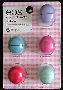 EOS Lip Balm Lippenbalsam Lippenpflege 5er Pack aus den USA