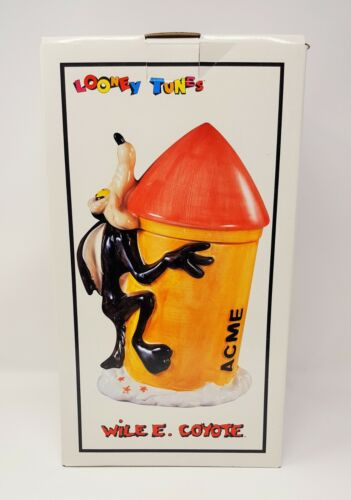 Looney Tunes 1993  Wile E Coyote Cookie Jar-Mint In Original Box