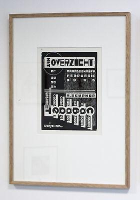 Jozef Peeters - Michel Seuphor ,gerahmt,  Belgien 1925, de Stijl, Bauhaus, TOP !