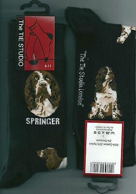 Perro Springer Spaniel Calcetines Tobilleros Unisex Números 6-11