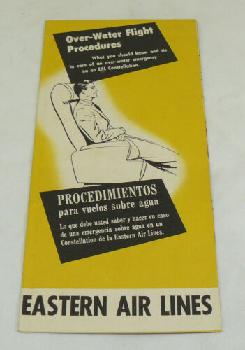 VTG Eastern Air Lines Over-Water Flight Procedures Brochure Pamphlet