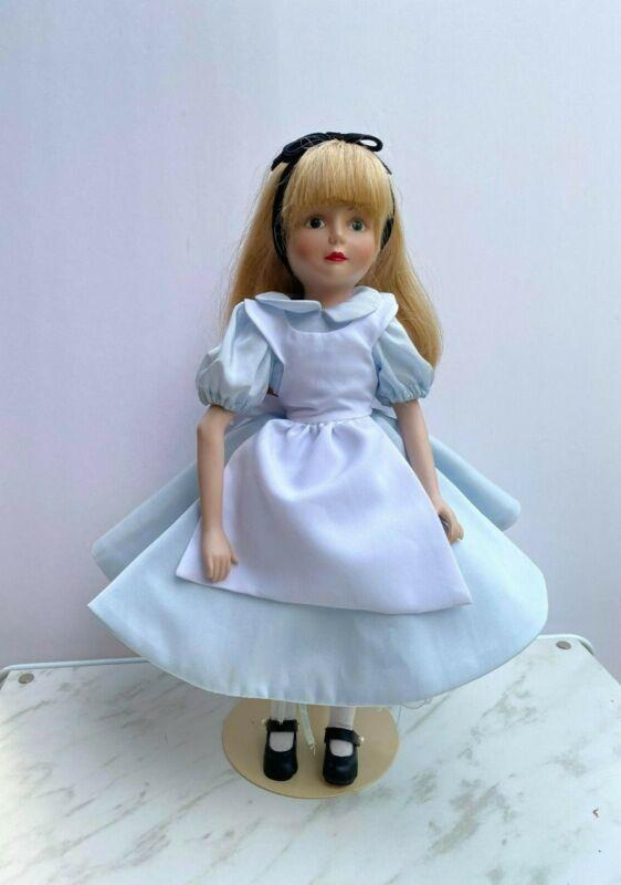 1988 Grolier The Disney Collection Alice in Wonderland Porcelain Doll - Numbered