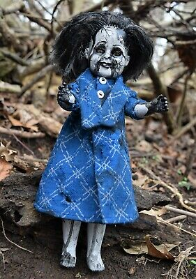 Creepy, horror prop doll, Tammy ~ Handpainted, zombie, halloween, ghostly