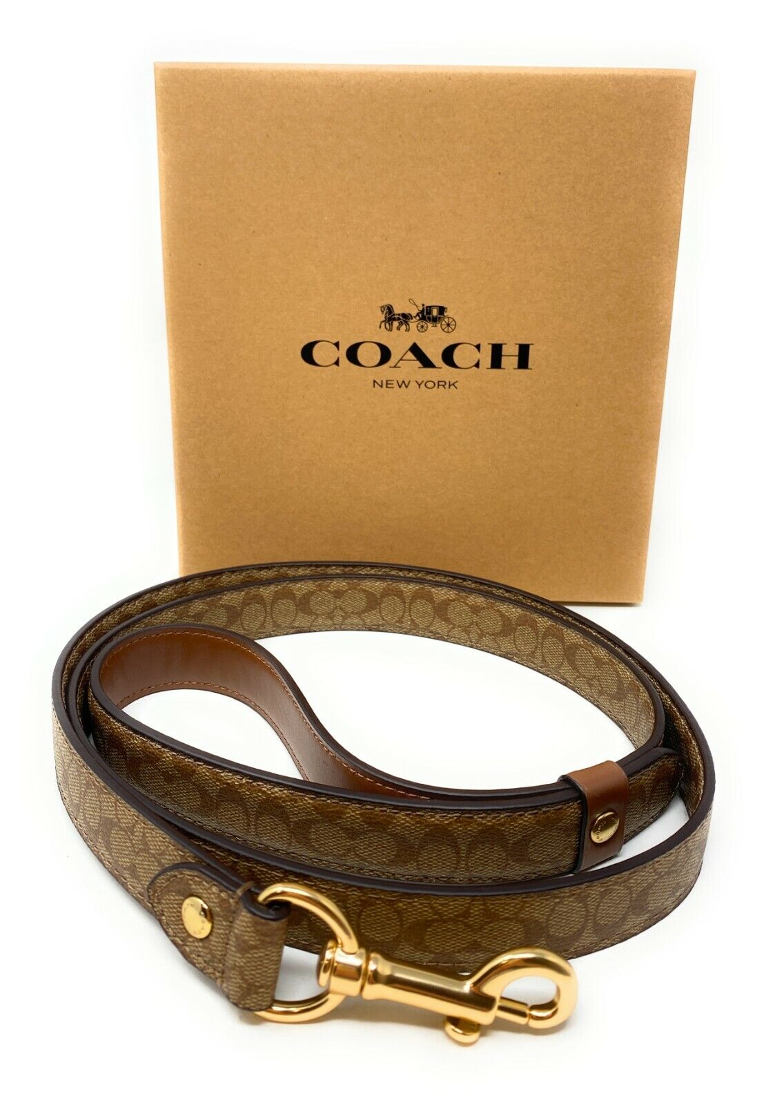Coach  Large Leather Pet Dog Leather Leash Crossgrain Dog Supplies