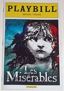 Les Miserables Broadway Playbill Opening Night + Ad (March 2014)