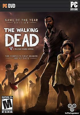 THE WALKING DEAD Game of the Year Edition FIRST SEASON +400 DAYS PC Game DVD
