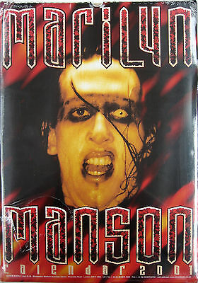 MARILYN MANSON Calendar 2001 UK SEALED Calendar Rare Oliver Books